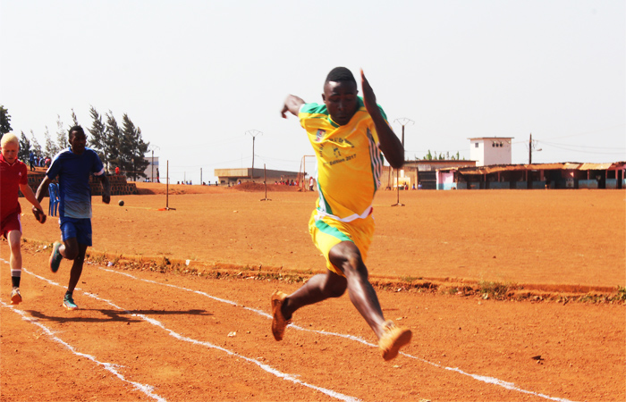 Junior, visually impaired was able to run 100M in 10.9 seconds