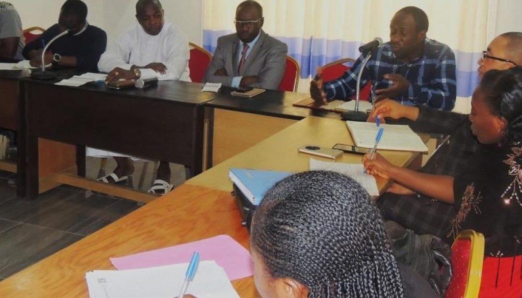 Dr Ndasi descriping the clinic as a referal center 1