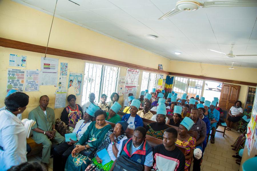 Health Education of participants at Nkwen Baptist Health Center Bamenda