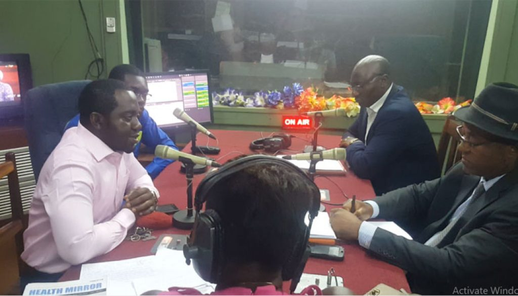 Dr. Epie Njume, Ferdinant Mbiydzenyuy and other public health experts on the airwaves of CRTV Yaounde