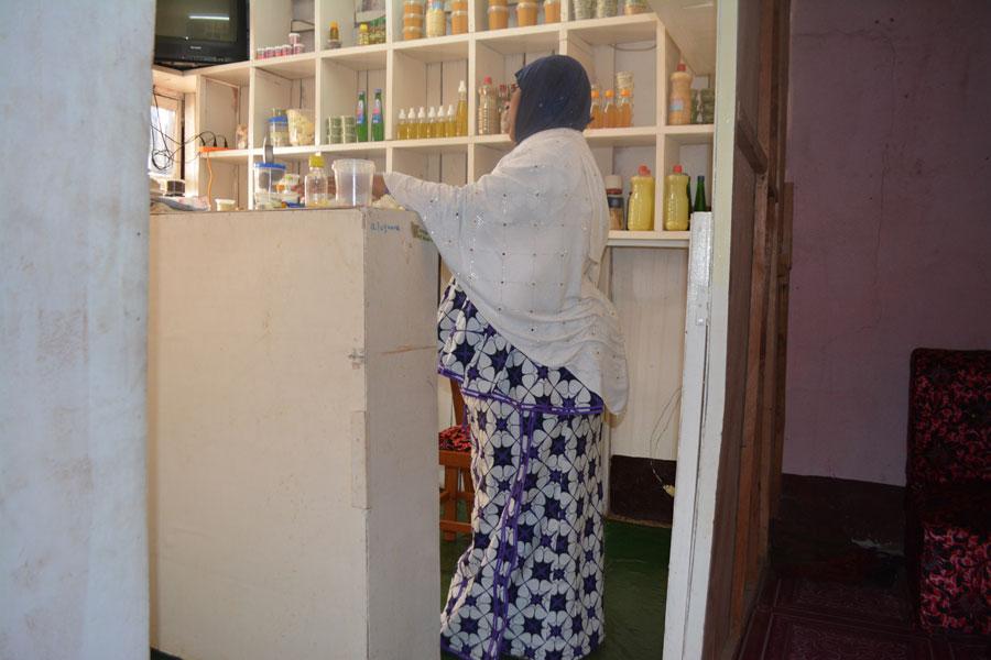 Ramatu at her beauty shop in Nkwen Bamenda