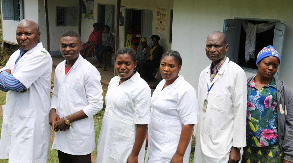 A cross section of Bapi PHC Staff