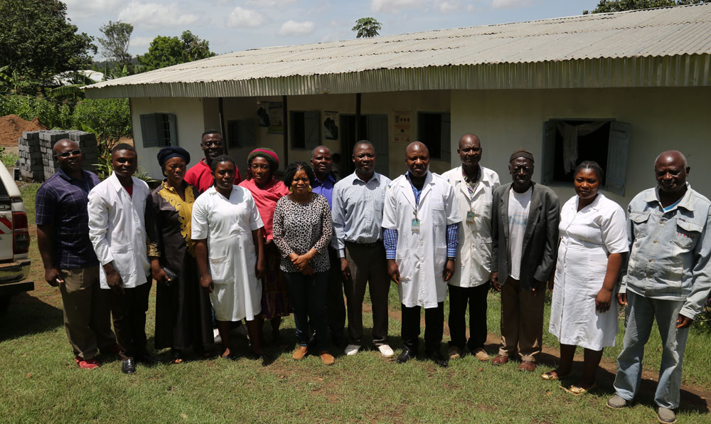 Cross section of Bapi PHC staff and Field supervisor during LAP Director's visit