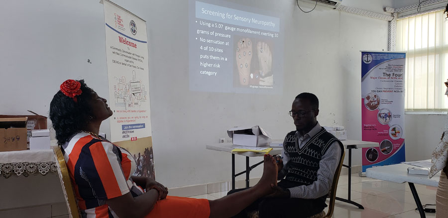 Participants demonstrate foot care best practices