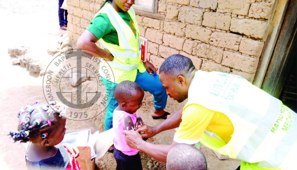 Children receive catch-up immunization in crisis-stricken Bui Division.-1