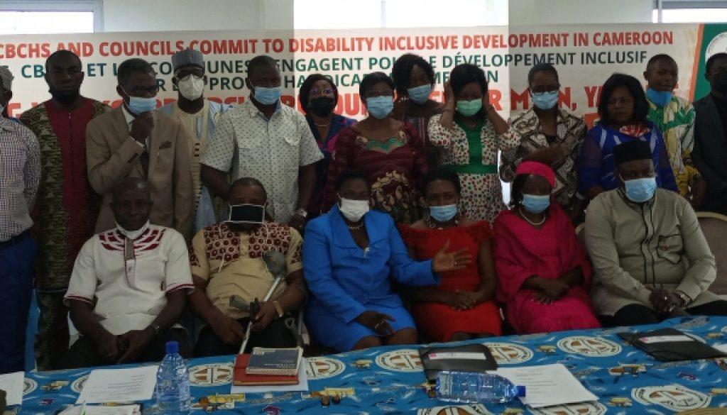 Council representatives, CBCHS and MINAS team posind during workshop