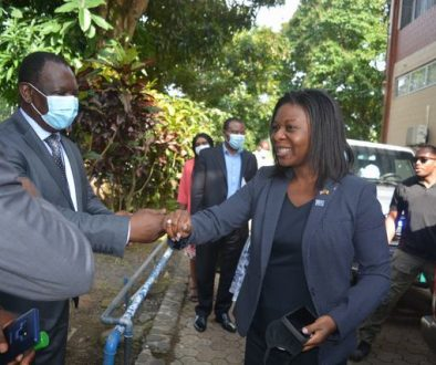 P.I welcoming the CDC Country Director