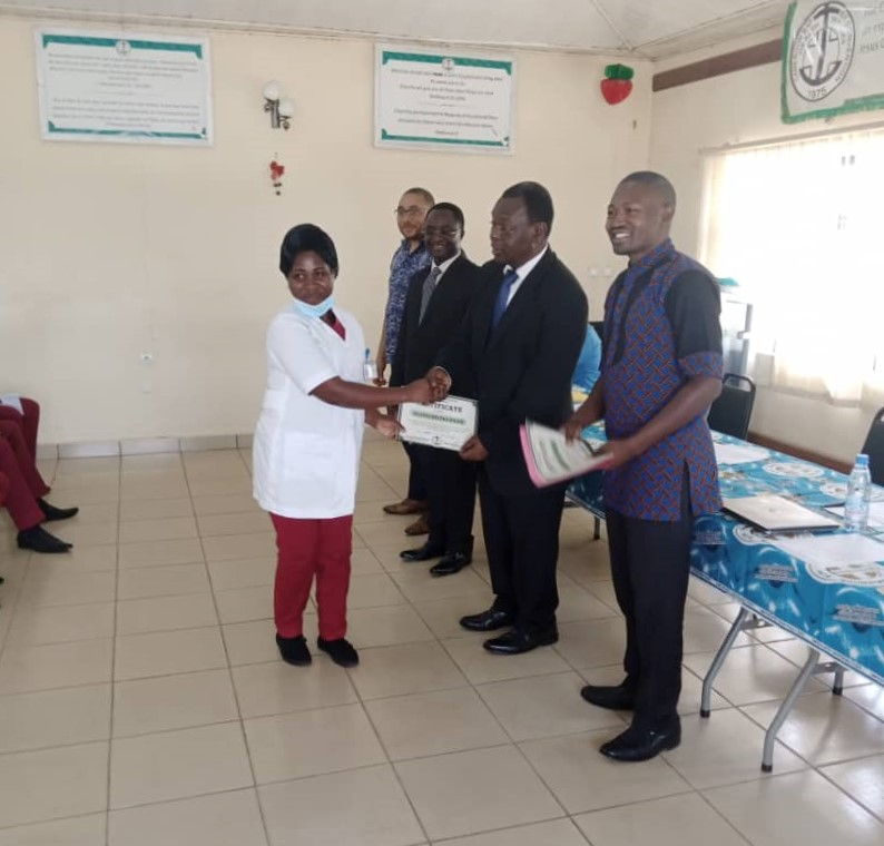 Receiving the valuable Physiotherapy Certificate