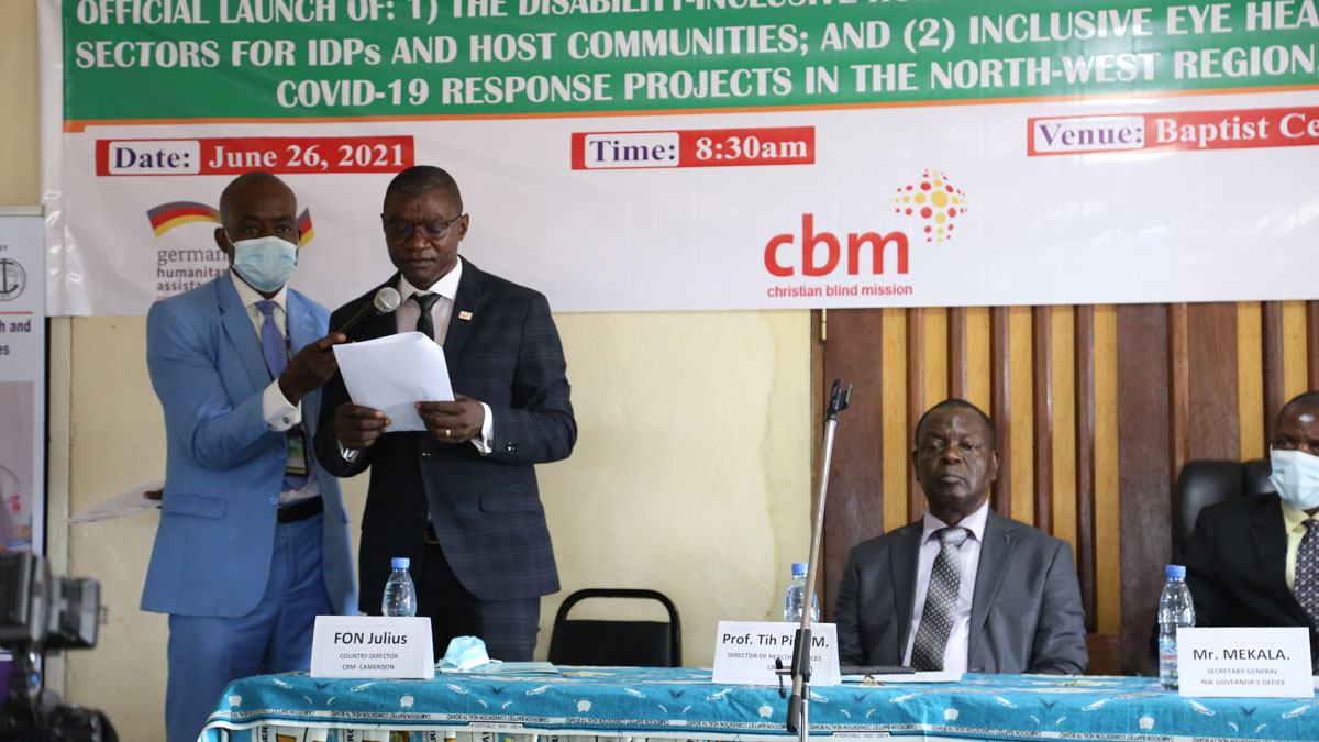 Country Director for CBM Mr Fon Julius reaffirms CBM's commitment to support all PwDs