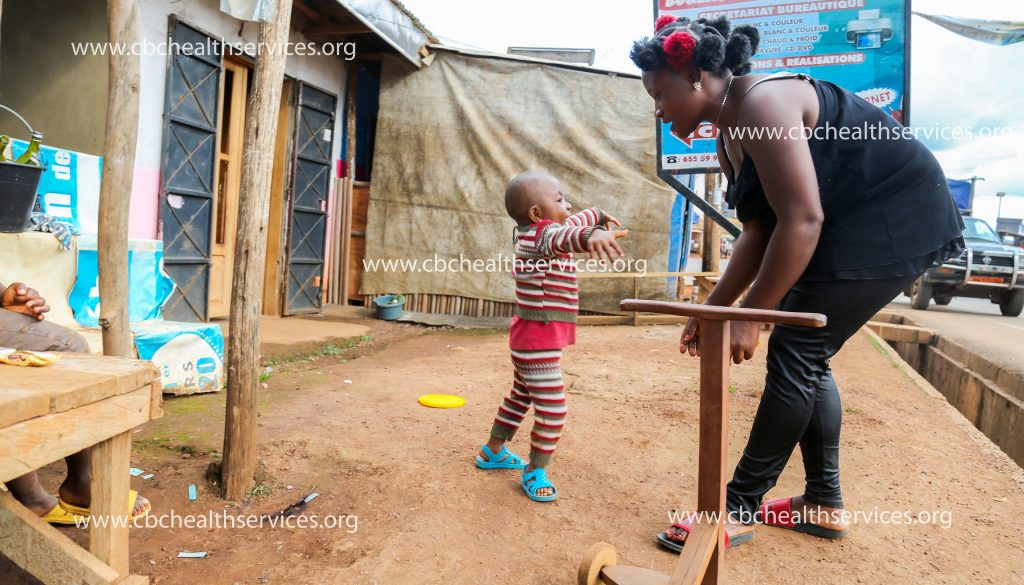 It is every mother's joy to see their child walk, being happy