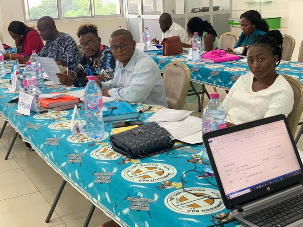 Participants during training