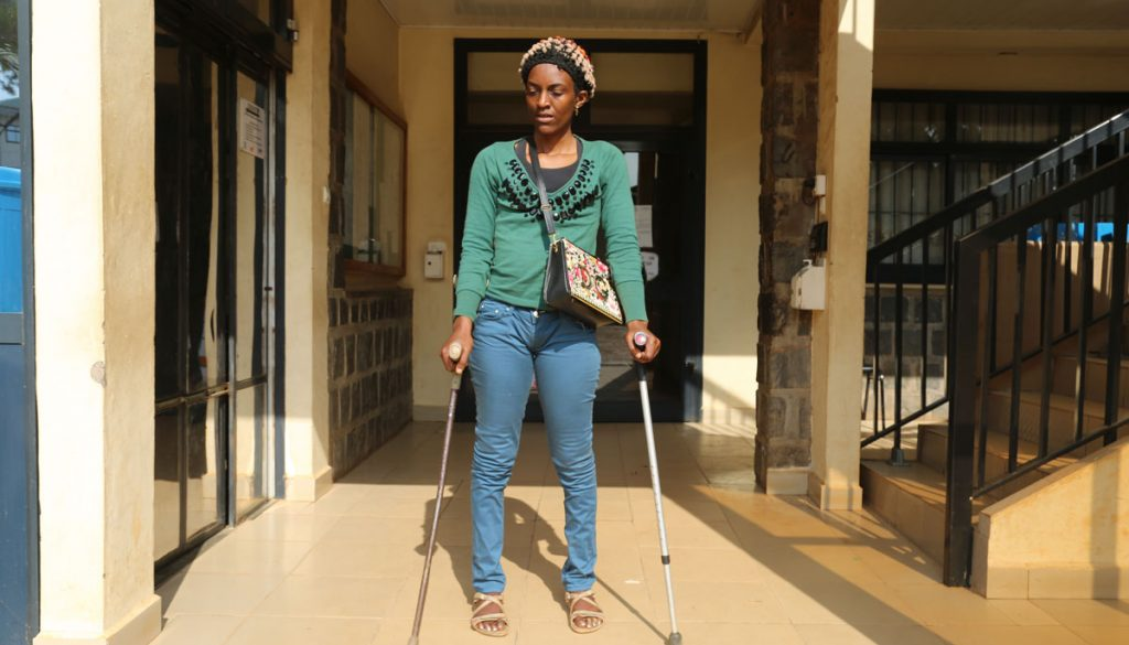 Teke Catherine steps into our office (CBC Health Services) in need of assistance