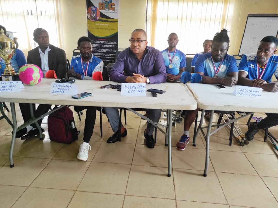 SPD Coordinator promise to source funding for the team during a press conference in Bamenda