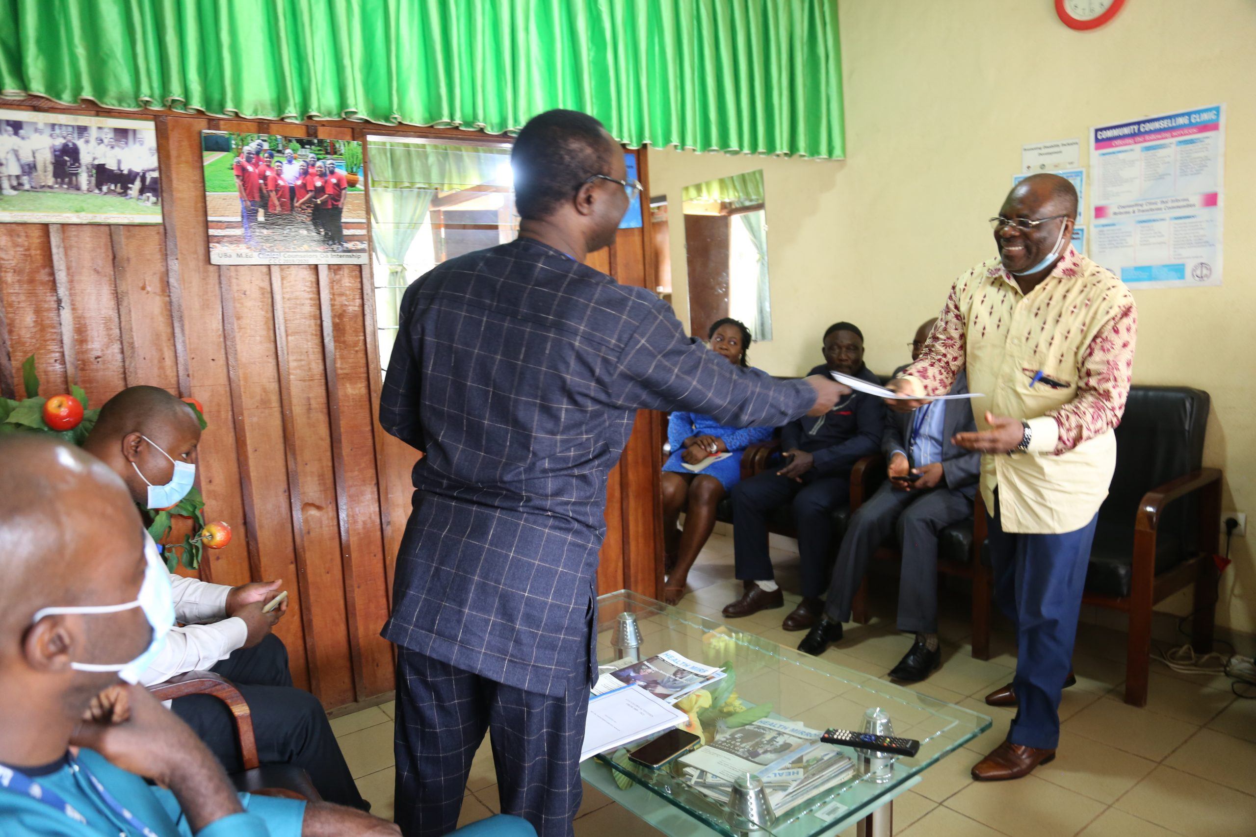 The CAF receives handover notes from the Outgoing Director of CCC,CECPES